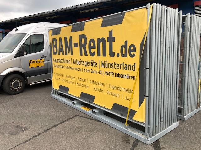 BAM-B0420 Bauzaun mieten Münsterland